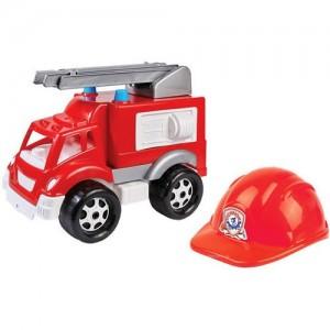 Пожарная машина с каской 3978