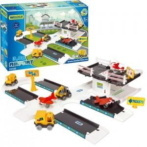 Игровой набор Аэропорт Wader Kid Cars 3D 53350