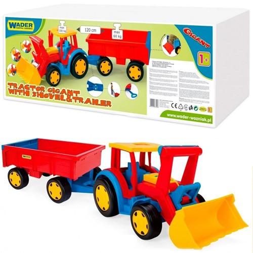 Трактор Гигант с прицепом и ковшом Wader 66300
